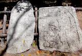 deux stèles retrouvées à Coba