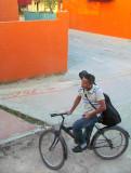 guitariste à vélo