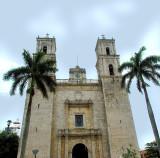 la façade de l'église de Valladolid