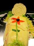 fleur sur saumon