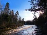 la rivière à la brunante