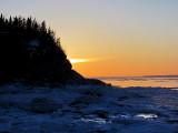 coucher de soleil sur l'ile au massacre