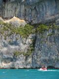 falaise sur le lac d'Annecy