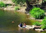 baignade sur la Montmorency