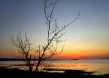 dernière lumière sur la baie de Rimouski