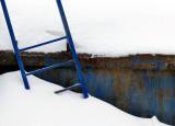 échelle bleue