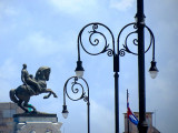 le cheval les deux pattes en l'air, général mort au combat