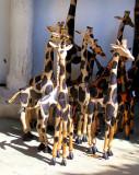 Girafes de bois