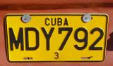 plaque cubaine