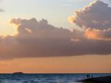 fond clair sur la mer
