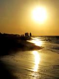 marche sur la plage