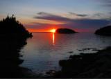 coucher de soleil sur l'ile brulée
