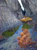 l'eau sur les rochers