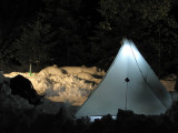 Night time in camp