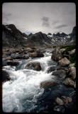 Titcomb Basin lower waterfall