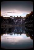 Titcomb Basin Lake rain drops