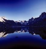 Titcomb lake morning reflection