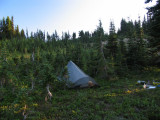 My dry camp at north end of Goat Rocks Wilderness