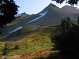 My campsite view of Peak 6768