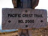 PCT Trail sign along the knife edge