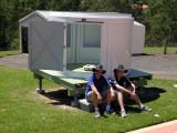 Hot work in the summer sun