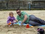 Rubbish sandcastles Daddy!