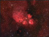 The Cat's paw nebula HA-RGB