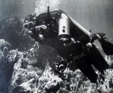 Howard and Sharon diving Red Sea 1972
