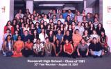 Our 20th Roosevelt High School Class Reunion