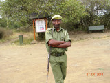 Kenyan Wildlife Service guard