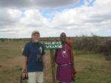 Allan and a Maasai