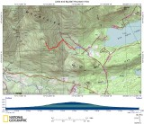 Little and Big Ball Mountain Hike on Topographical Map