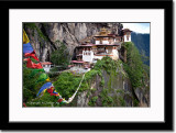 Prayer Flag Line Connecting to the Monastery