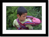 Bhutanese Boy Baby Sitting His Brother