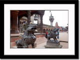 Lion Statue at Durbar Square