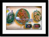 Kangkung (Some Sort of Water Spinach), Fish Dish and Kredok