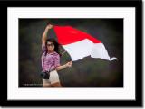 Flag Waving, Nikon Carrying Chick