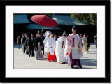 A Shinto Traditional Wedding Procession at Meiji Shrine/Temple