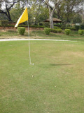 Dad almost aces Siri Fort No. 9 (105 yards)