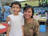 With teacher Mrs. Lal