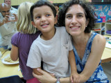 With teacher Miss Michele