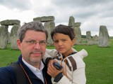 With Dad at Stonehenge