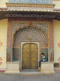 One of the gates within the Jaipur City Palace