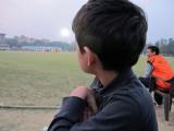 Watching a cricket match