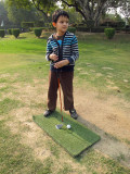 Golfing at Siri Fort