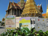 Three Small Books visit the Grand Palace, Bangkok in December of 2011