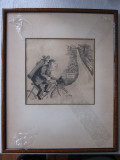 Original art (cycling golfer)