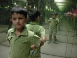 Inside the Science Centre's mirror maze