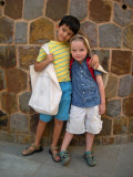 With friend Darragh on the last day of Kindergarten