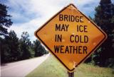Bridge May Ice In Cold Weather (New Site, MS)